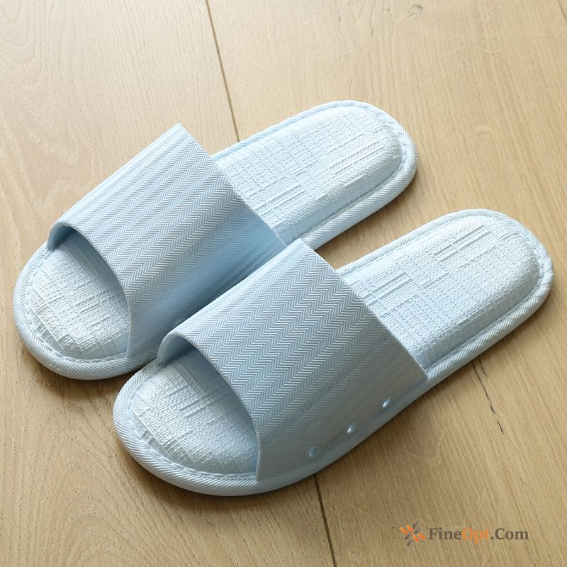 Thick Sole Blue Indoor Men's Bathroom Home Anti-skid Slippers
