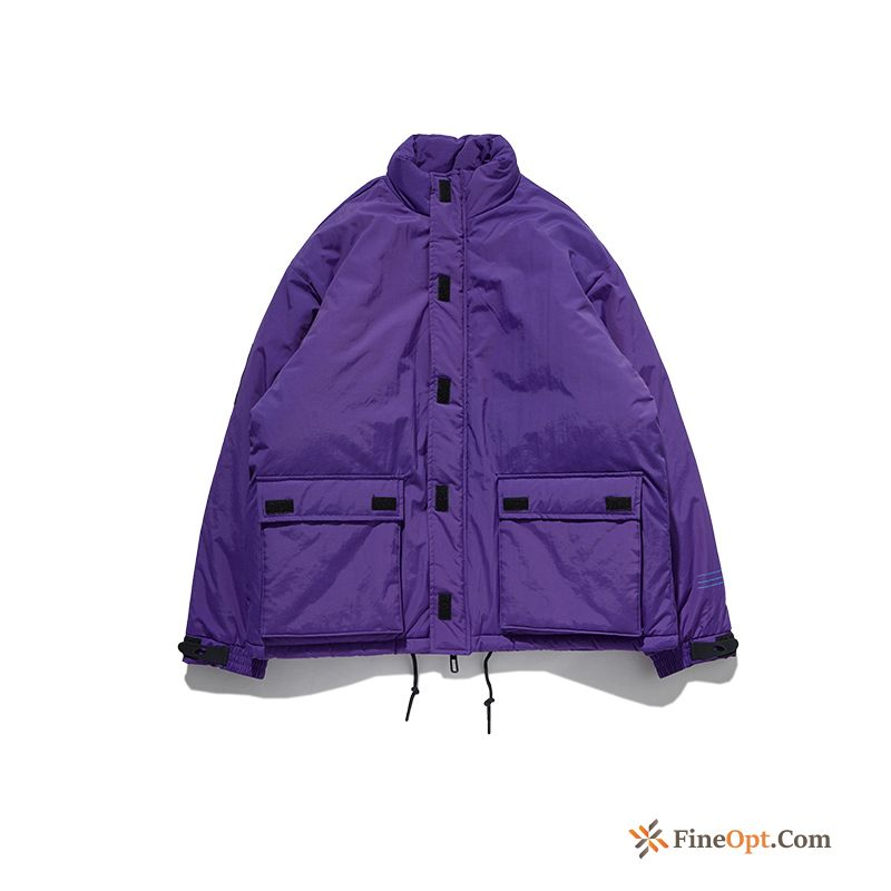 Thickening Cotton-padded New Winter Purple Lovers Loose Rosybrown Cotton Jacket Online