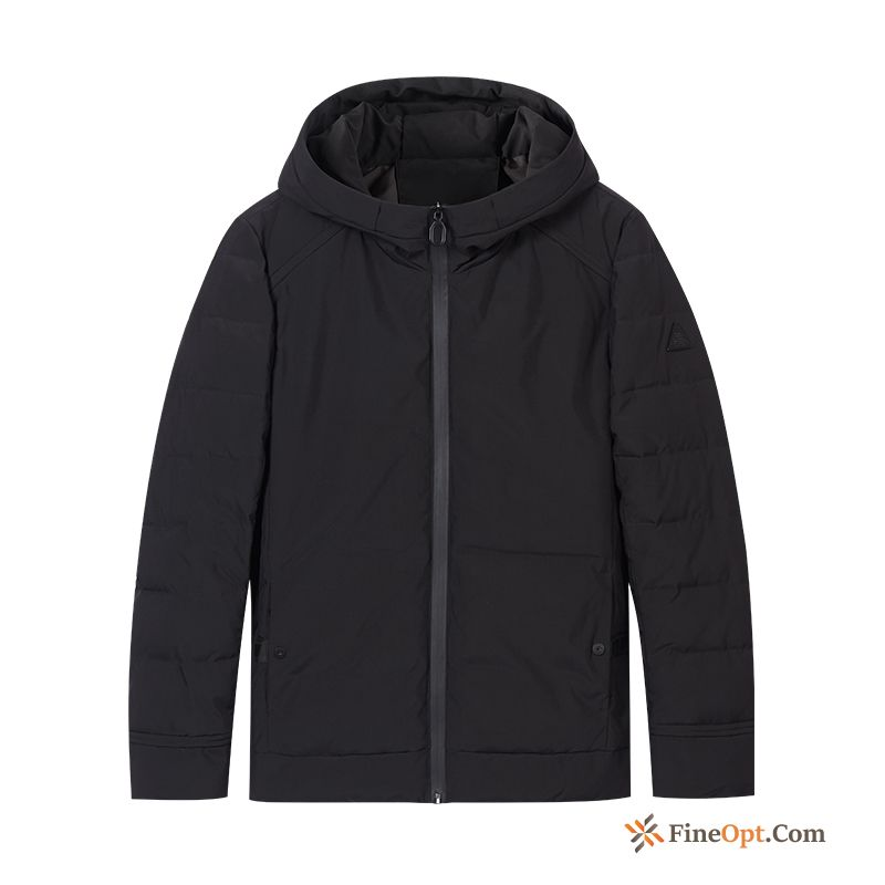 Thickening Hooded Coat Black Cotton Cotton-padded Trend Cotton Jacket
