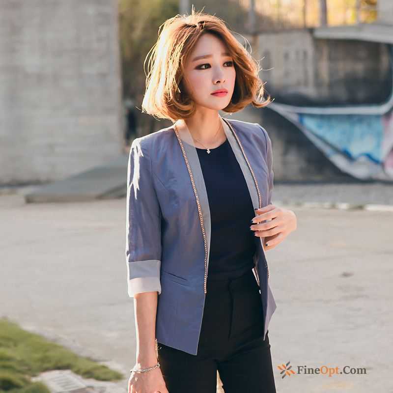 Thin Coat Slim Europe Suit Temperament Sleeve Winered Blazer Sale