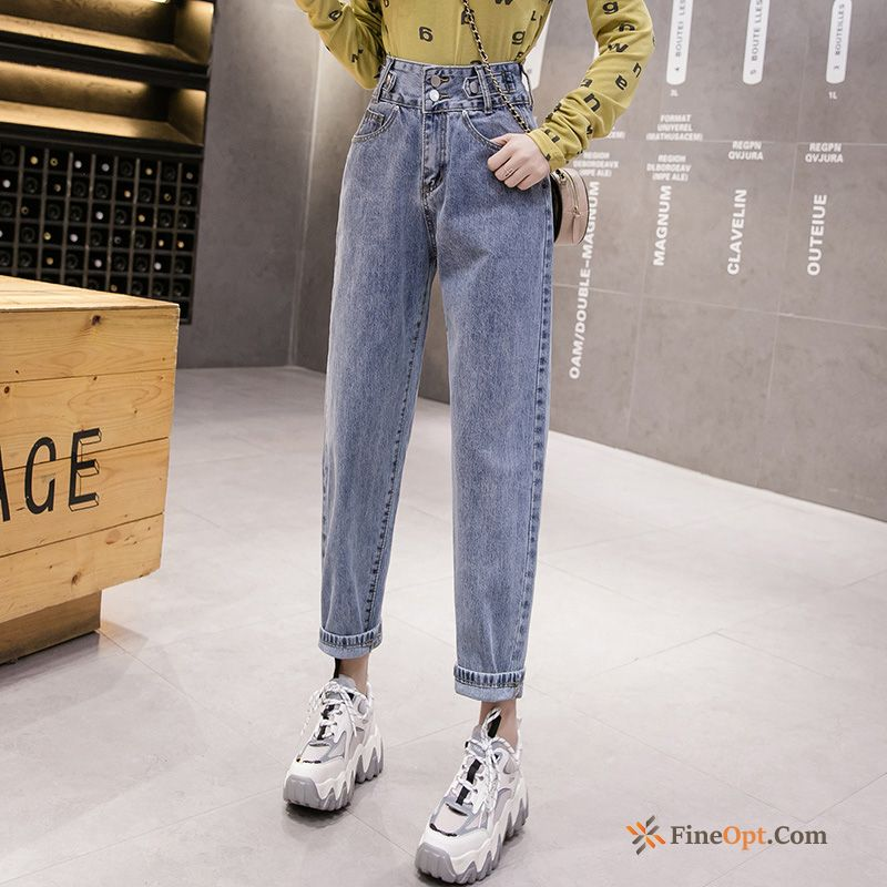 Thin Loose New Summer Harlan Pants Spring Pitch-dark Jeans