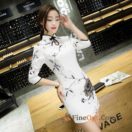 Thin Sleeve Girl Fashion Short Sleeve Autumn Iris Dress Online