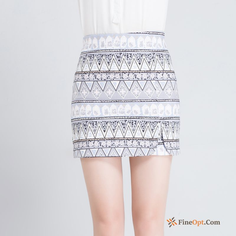 Thin Slim Professional Flower Spring Skirts Europe Pure White Skirts