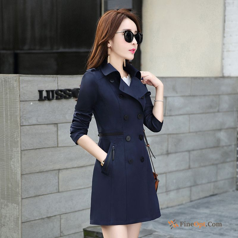 Thin Spring Slim Fashion Europe Temperament Long Coat