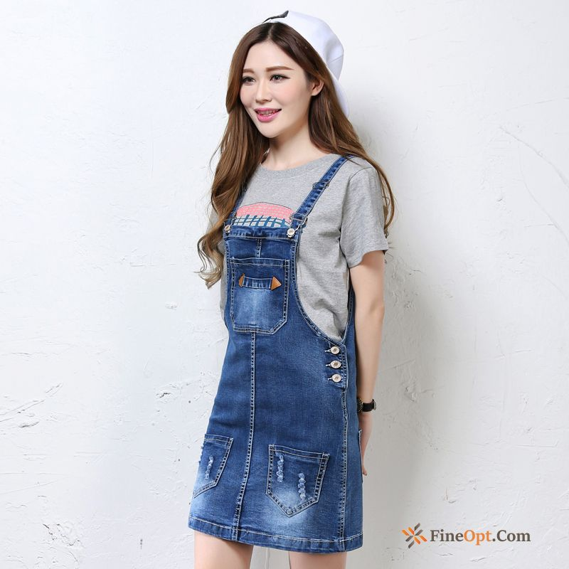 Thin Strap Denim Short Skirt Loose All-match Summer Skirts