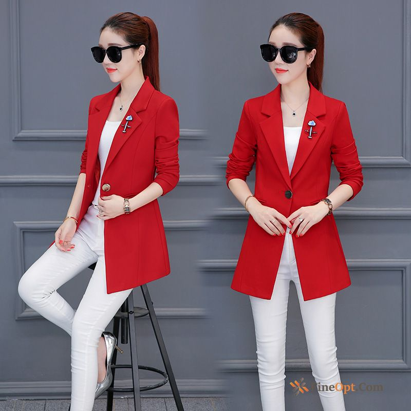 Thin Suit Coat Europe All-match Fashion New Blazer For Sale