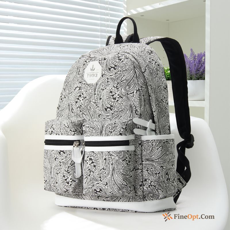 Travel Laptop Bag Women Printing Trend Canvas Student Backpack