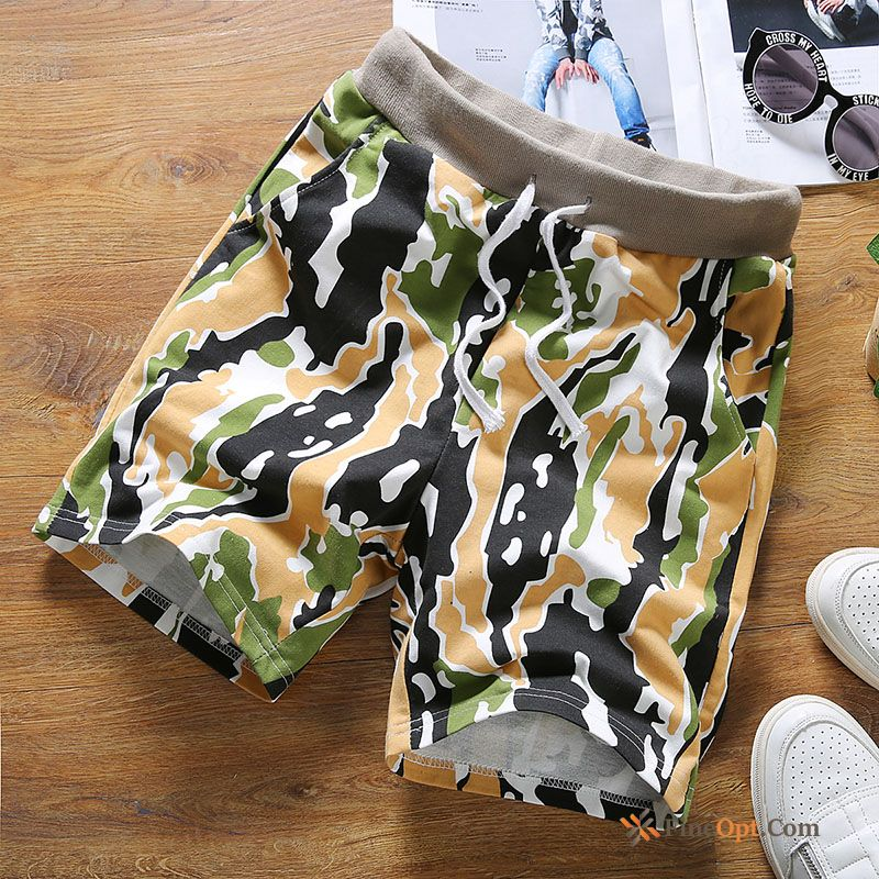 Trend Brand Pants Street Men's Beach Sweatpants Camouflage Silver Shorts