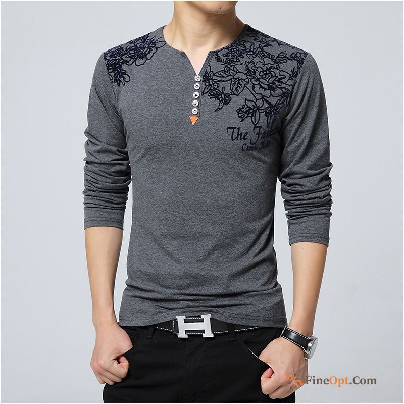 Trend Cotton Bottoming Shirt Men's Loose Autumn Coat T-shirts