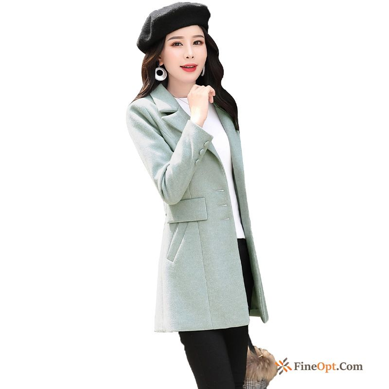 Trend Fashion Elegant Autumn Long Sleeves Personality Woolen Coat Sale