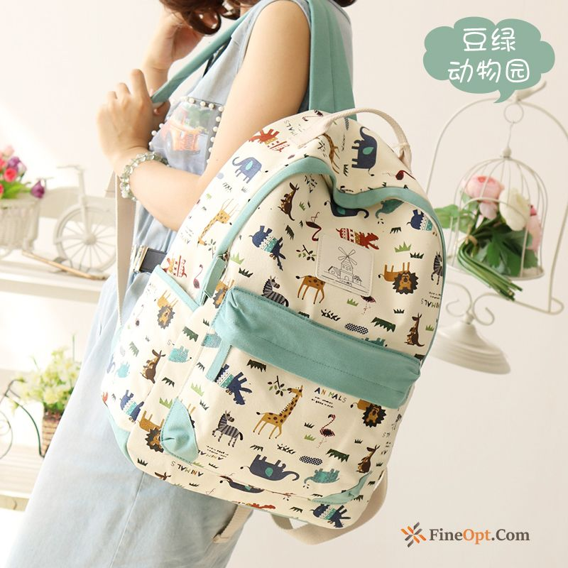 Trend School Bag Student Backpack Canvas Travel Women Backpack