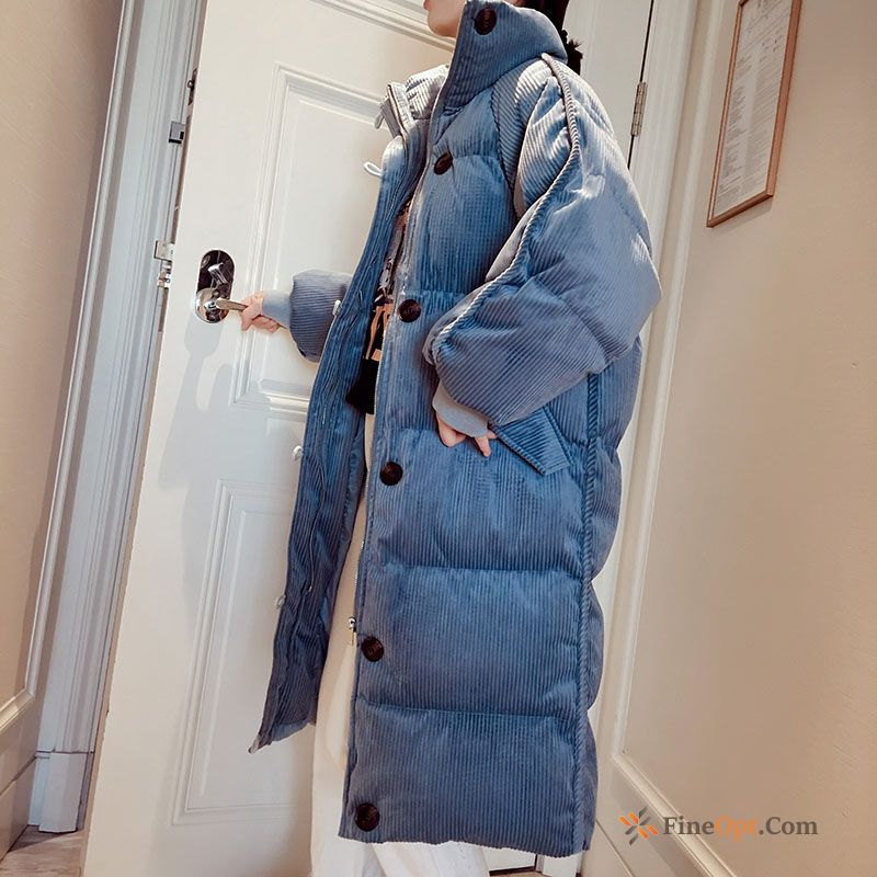 Trend Winter Clothes Coat Blue Cotton-padded Student Thickening Cotton Coat Online