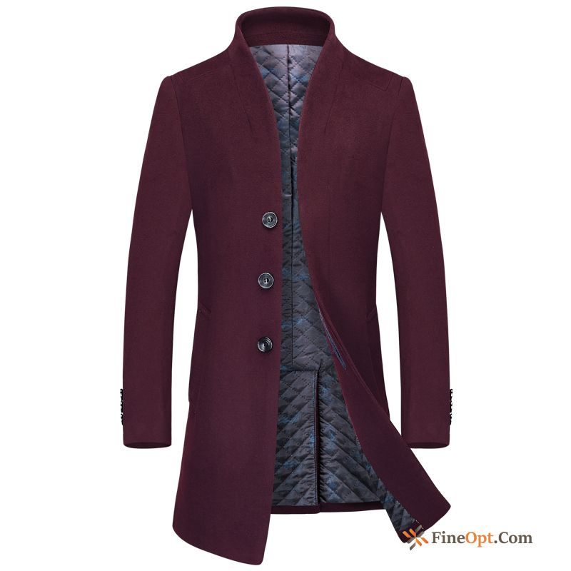 Trend Wool Wollen Fabric Slim British Woolen Europe Coat Online