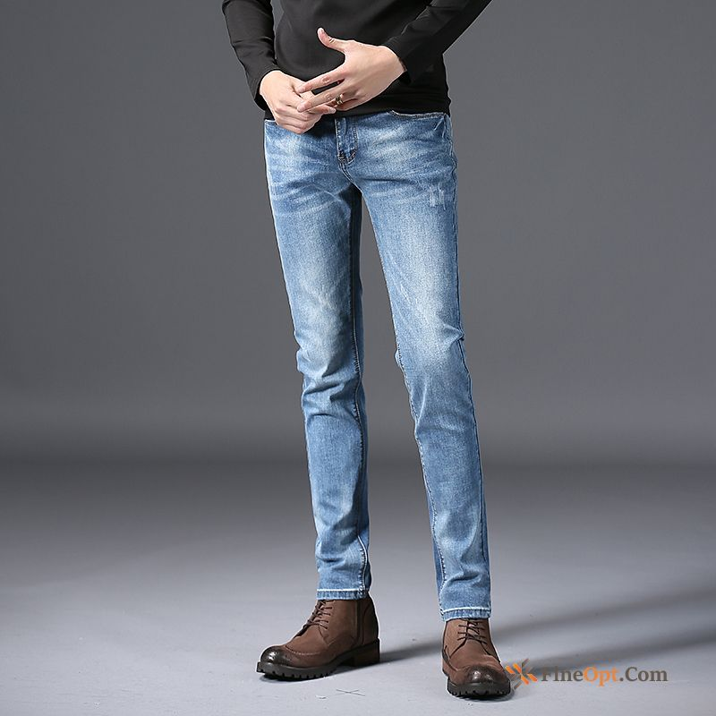 Trousers Light Elasticity Trend Men's Skinny Jeans Sale