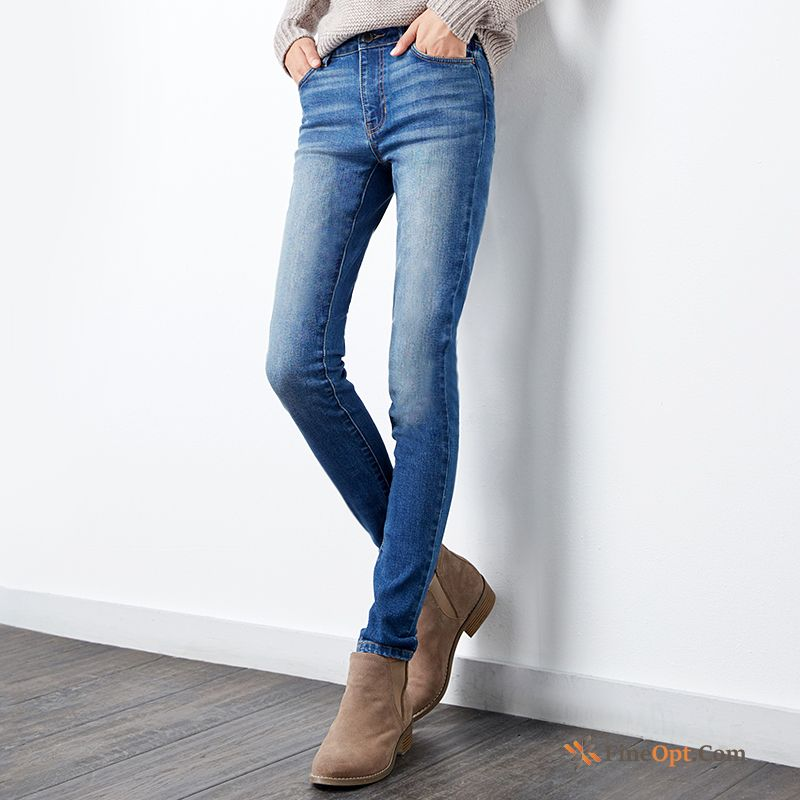 Trousers Slim Middle Waisted Spring Skinny Jeans New Pants