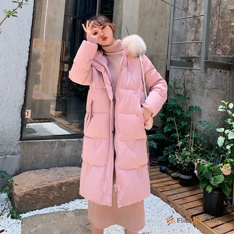 Ultra Winter Pink Trend Cotton Anti-season Cotton-padded Cotton Coat Discount