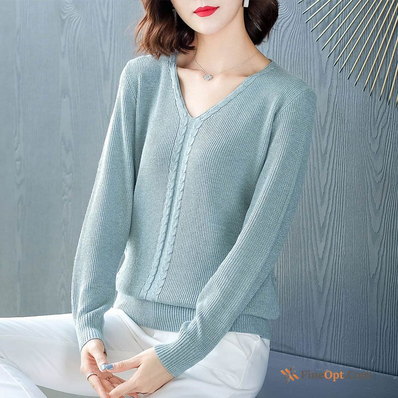 V Collar Fashion Sweater All-match Winter Short Long Sleeves