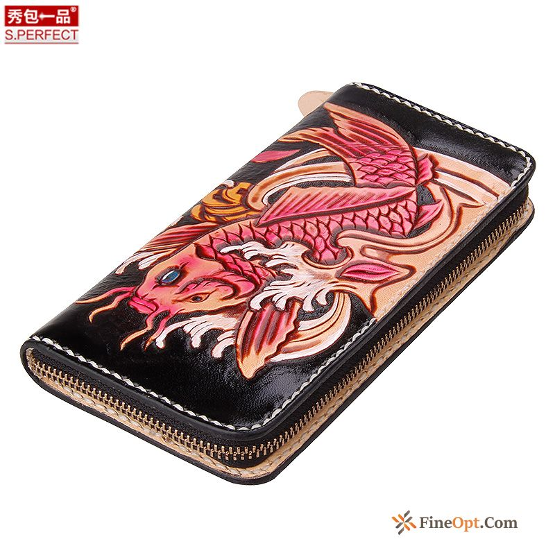 Wallet Wallet Pure Leather Women Hand Painted Wallets Multicolor Deep Yellow Sale