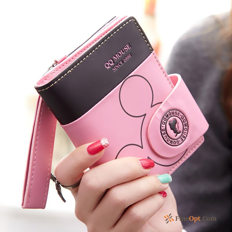 Wallet Women Student Fold Short Paragraph Two Fold Wallets Blue