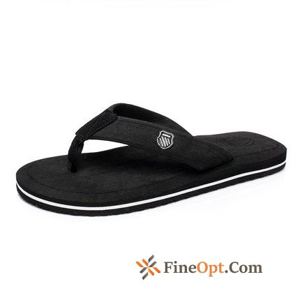 Wear-resisting Flip Flops Breathable Casual Beach Trend Flat All White Flip Flops Online