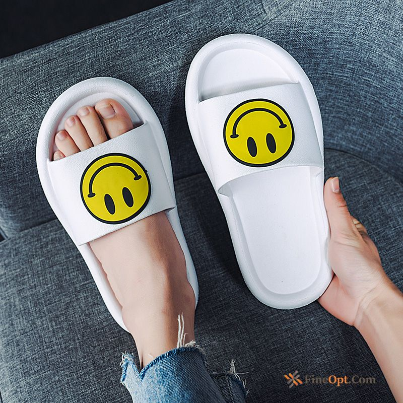White Anti-skid Personality Indoor Beach Men's Sandals Slippers Sale