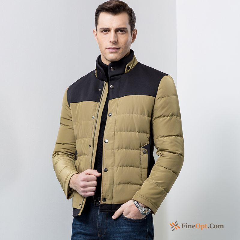 Winter Youth Down Jacket Wolf Short Fashion Men's