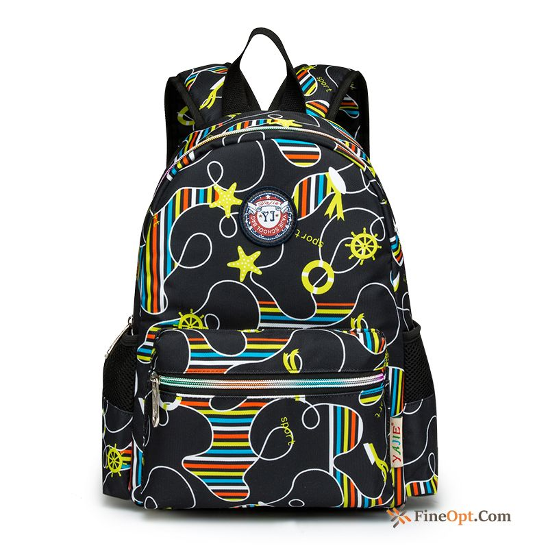 Women Small Men's Student College Backpack Printing White Backpack