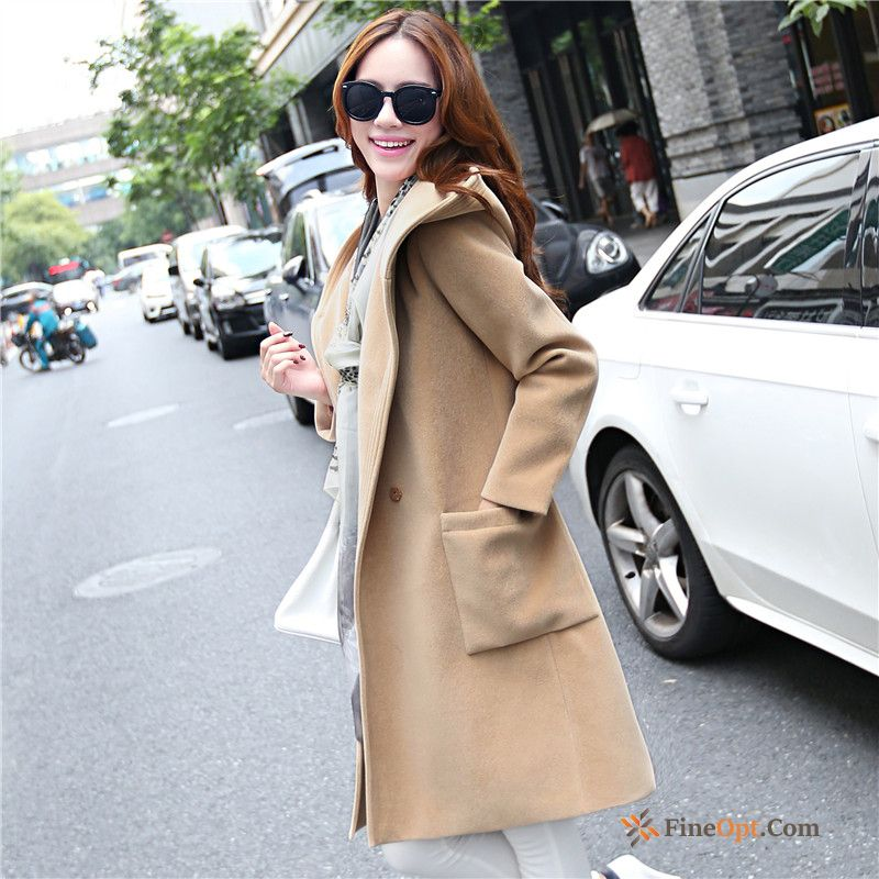 Woolen Europe New Overcoat Loose Autumn Wollen Fabric Coat Discount