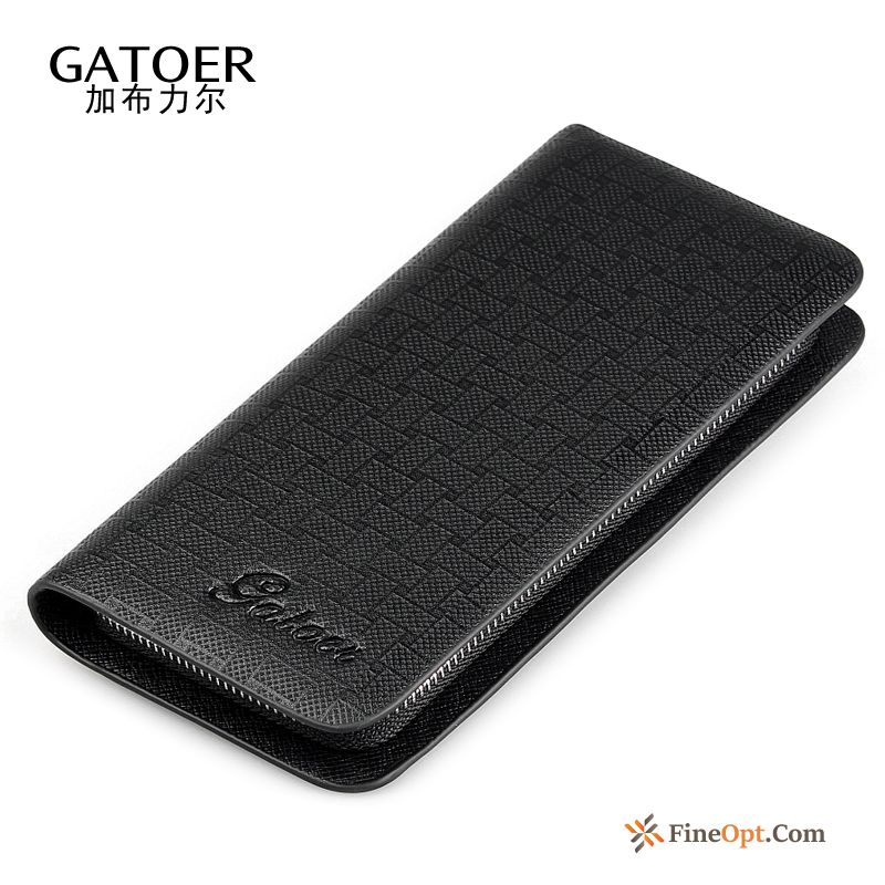 Zipper Long Section Men Simple Mobile Phone Business Leisure Wallets