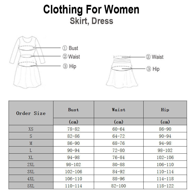 Fineopt Women Dress Size