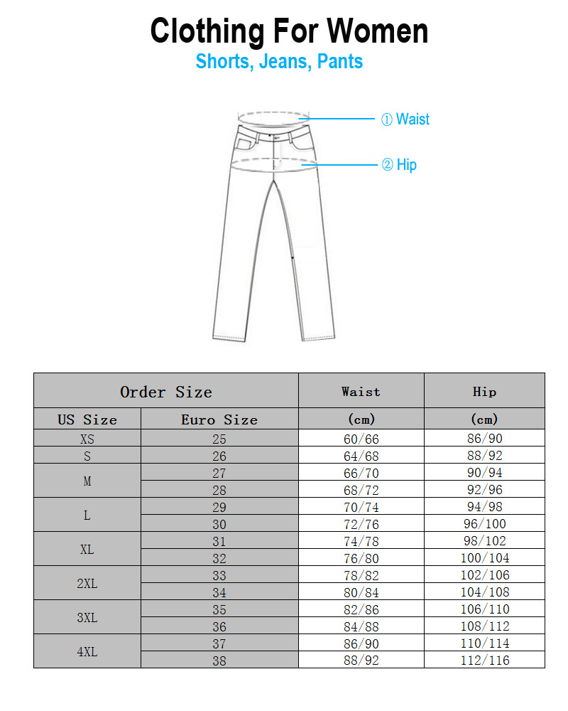 Fineopt Women Pants Size